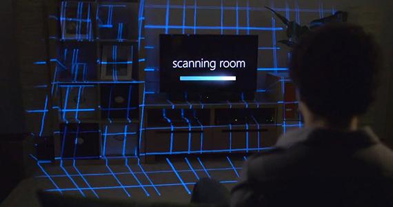 Microsoft-IllumiRoom-scanning-room