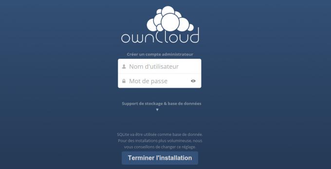 owncloud-premier-demarrage
