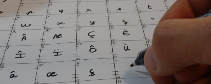 paintfont ecriture des caractères